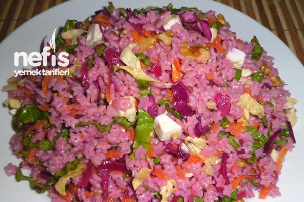 Renkli Çiçek Şehriye Salatası ( Gıda Boyasız ) Tarifi