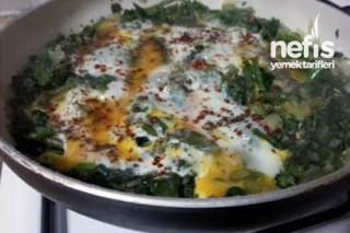 Yumurtalı Ispanak Yemeği Yapımı Tarifi