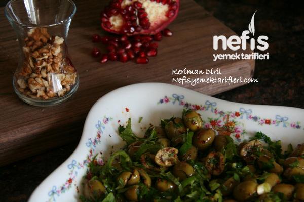 Zeytin Salatası (Nar ve Cevizli) 3