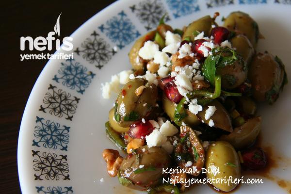 Zeytin Salatası (Nar ve Cevizli) 4