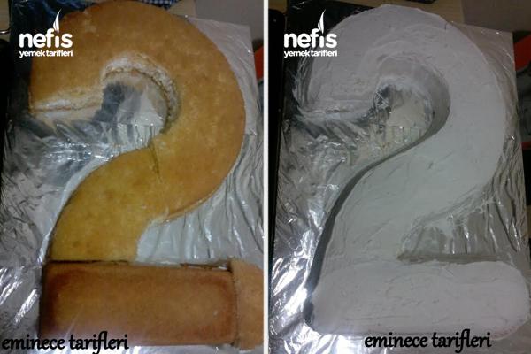 2 Şeklinde Pasta Yapımı 5