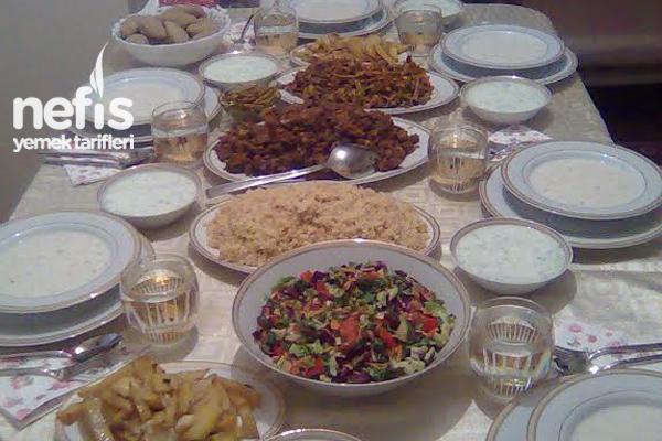 Akşam Yemeği Menüsü Tarifleri Tarifi