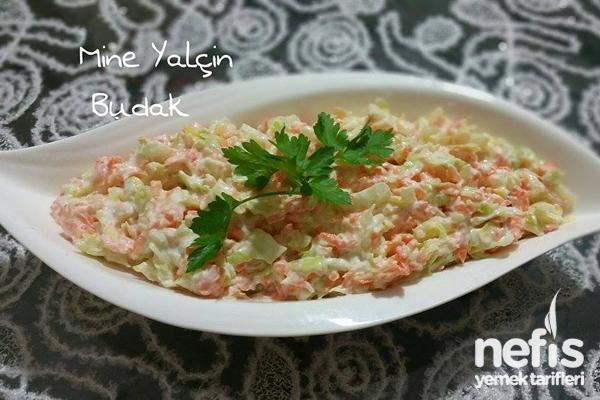 Beyaz Lahana Salatası Yapımı Tarifi