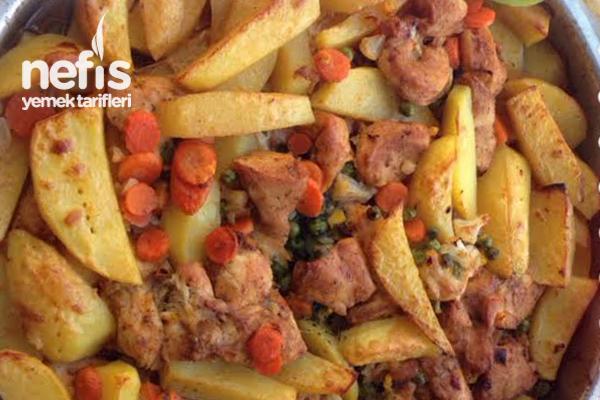 Fırında Pratik Sebzeli Tavuk Tarifi