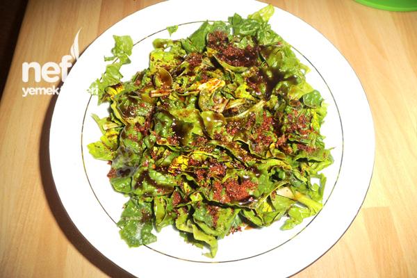 Ispanak Salatasının Yapımı