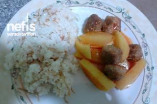 Köfte Patates Kebabı ve Pirinç Pilavı Tarifi