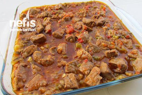 Közlenmiş Patlıcanlı Et Sote - Nefis Yemek Tarifleri