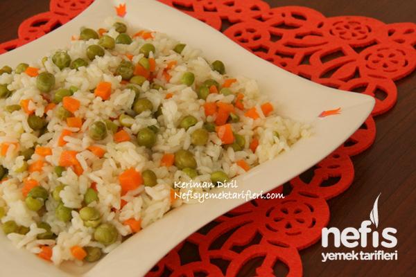 Sebzeli Bahar Pilavı (Zeytinyağlı)