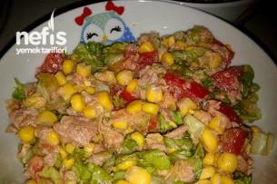 Ton Balıklı Salata Yapılışı