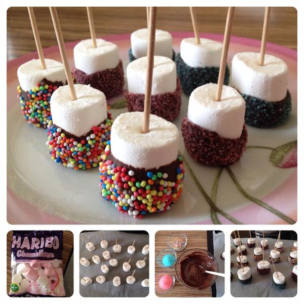 Çikolatalı Süslü Marshmallowlar 1