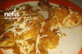 Fırında Mısır Gevrekli Patatesli Tavuk Tarifi