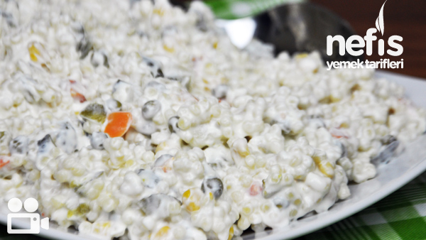 Garnitürlü Kuskus Salatası Tarifi Videolu