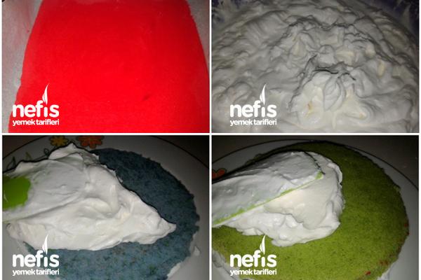 Gökkuşağı Pasta 3