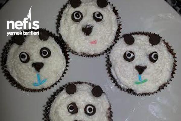 Panda Cupcake (Çaylı Islak Kek) Tarifi