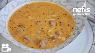 Erişteli köfteli çorba video