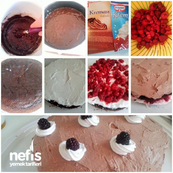 Frambuazlı Karaorman Pasta 2