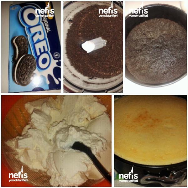 Oreolu Frambuazlı Nefis Cheesecake 1