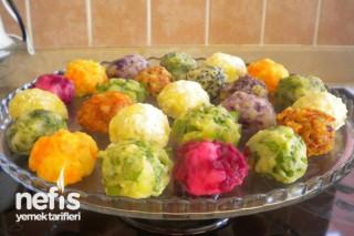 Rengarenk Patates Topları Tarifi