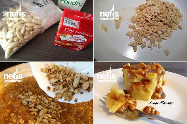 Bademli Karamel Soslu Elmalı Kek 3