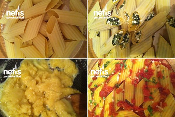 Beşamel Soslu Peynirli Ispanaklı Manicotti 2