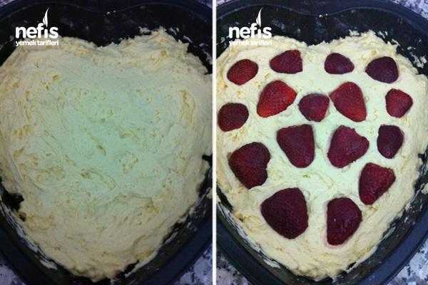 Çilekli Kek Yapılışı 1