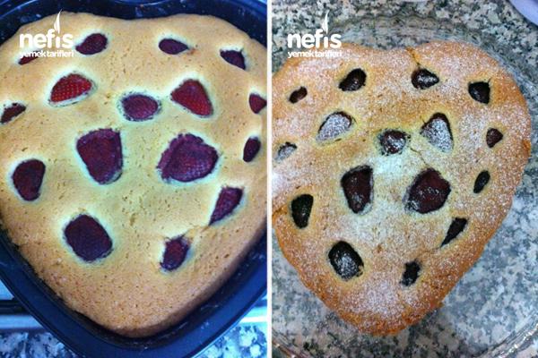 Çilekli Kek Yapılışı 2