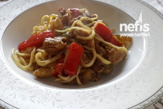 Çin Usulü Tavuk Noodle Tarifi