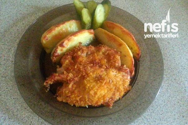 Fırında Cipsli Tavuk ve Patates Tarifi