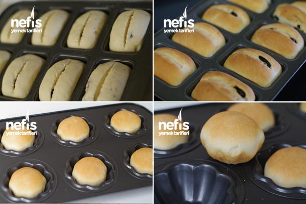 Zeytinli Ekmekler ( Muffin Kalıplarında ) 2