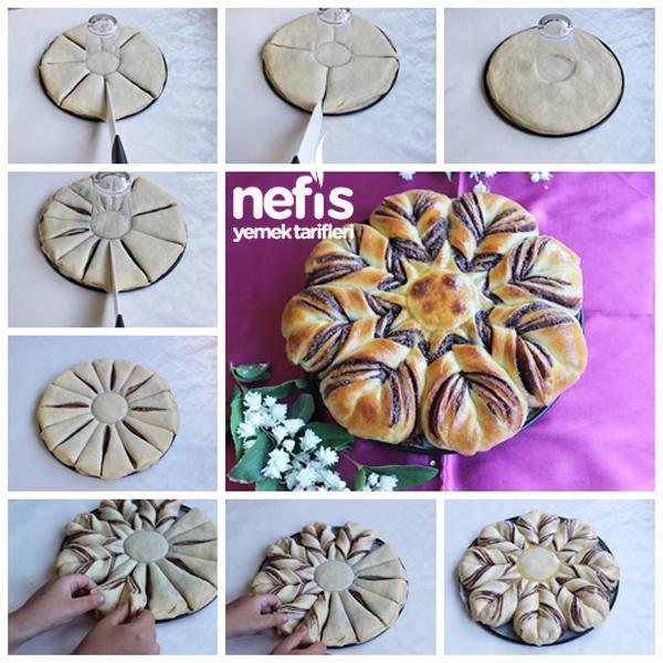 Nutellalı Çiçek Ekmek 2