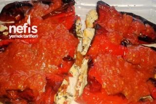 Peynirli Kırmızı Biber Dolması Yapılışı Tarifi