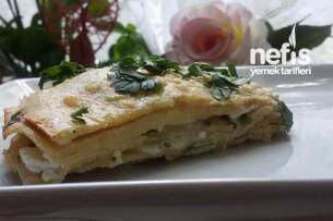Peynirli Krep Böreği (Su Böreği Tadında) Tarifi