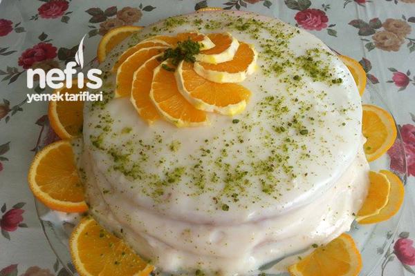 Portakallı Yaş Pasta Yapılışı Tarifi