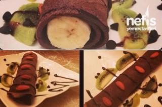 Çikolatalı Krep Sarma Tarifi