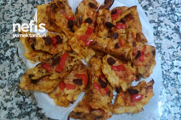 Ekmek Pizzası (Pideden Pizza) Tarifi