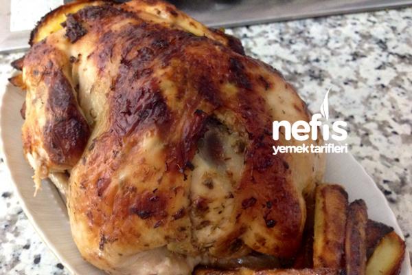 Fırında Bütün Tavuk Kızartma Tarifi