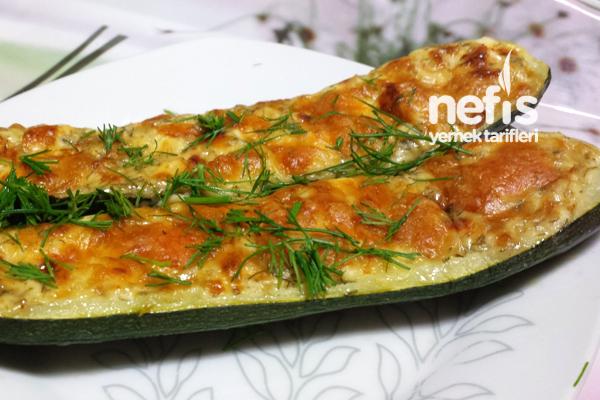 Fırında Peynirli Kabak Tarifi