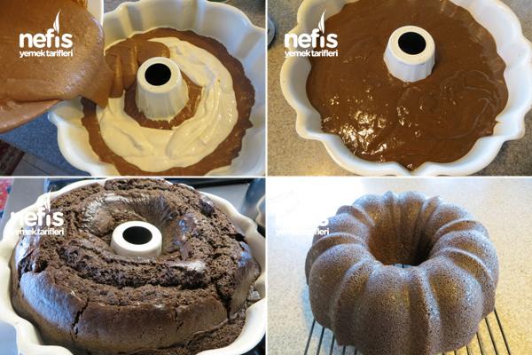 Içi Krem Peynirli (cheesecake'li) Kakaolu Kek 2