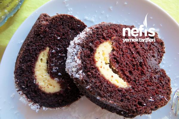 İçi Krem Peynirli Çikolatalı Kek 6