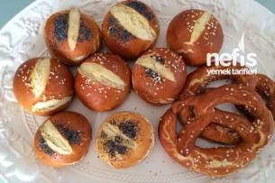 Kahvaltılık Alman Ekmekleri (Laugenbrötchen) Tarifi