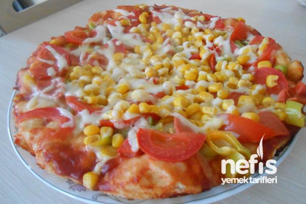 Mayasız Tavada Pizza 4