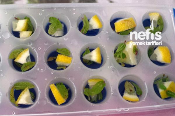 Naneli Limonlu Buz Küpleri 1