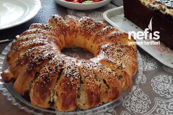 Peynirli Çiçek Çörek Tarifi
