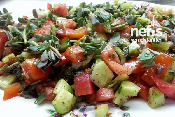 Pirpirim Salatası (Semizotu Salatası) 2