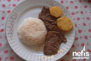 Tepside Patatesli Biftek Tarifi