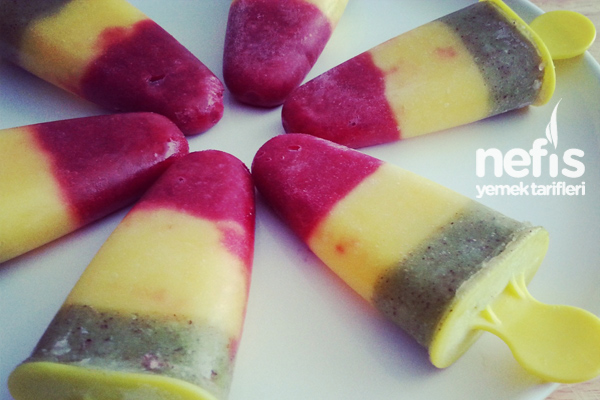 Üç Renkli Meyveli Dondurma Tarifi
