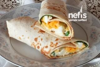 Yumurtalı Tortilla (Lavaş) Dürüm Yapılışı Tarifi