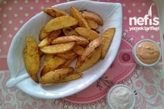 Elma Dilim Patates Ve Dip Sos Tarifi