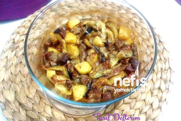 Etli Patlıcan Kebabı Tarifi