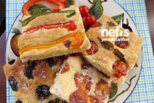 İtalyan Mutfağından Fokaça Ekmeği (Focaccia Bread) Tarifi
